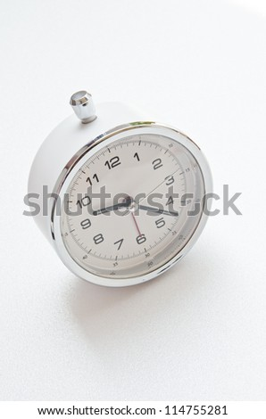 White clock on white screen, Thailand. - stock photo