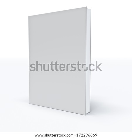 White closed book on white background . - stock photo