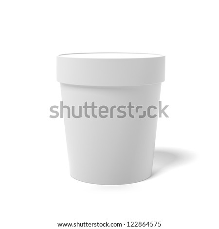 White closed container isolated on a white background - stock photo