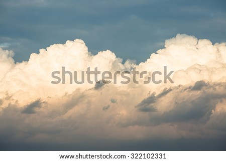White cloud against sunshine   - stock photo
