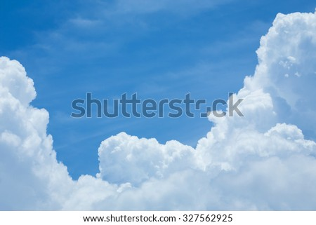 white cloud and blue sky, image weather background