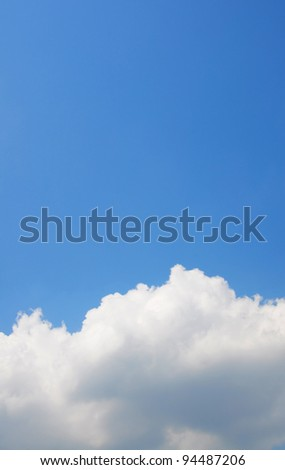 White cloud and space of blue sky background - stock photo