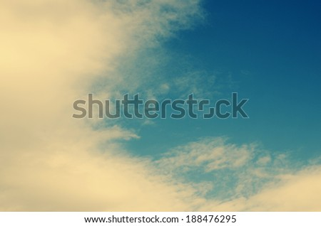 white cloud detail in a blue sky  - stock photo