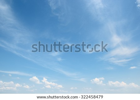 white cloud on blue sky - stock photo