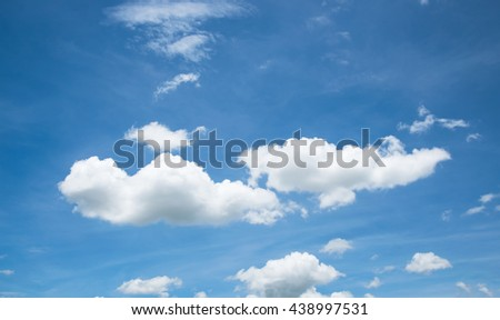white cloud on blue Sky in summer - stock photo