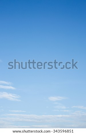 white cloud on clear blue sky background - stock photo