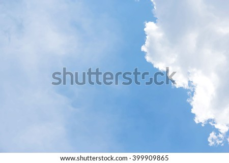 White clouds blue sky  background  - stock photo