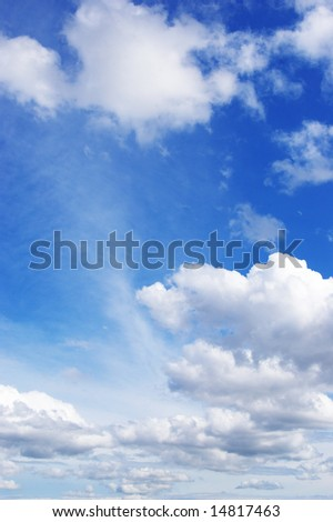 White clouds in a blue sky. Great background