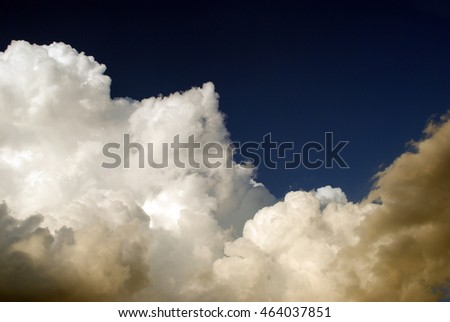 White clouds in a storm sky