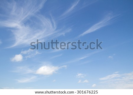 white clouds in the blue sky, wallpapers