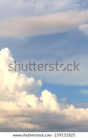 White clouds on blue sky - stock photo