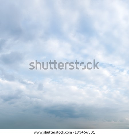 white clouds on blue sky background - stock photo