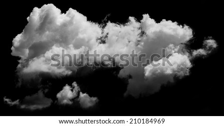 white clouds over blue sky. Design elements
