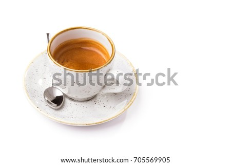 white coffee cup isolated on a white background