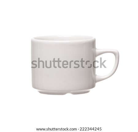 White coffee cup. Isolated on white background