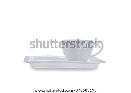 White coffee cup on background,clipping path