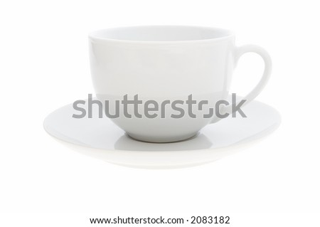 White coffee cup on white background with clipping path