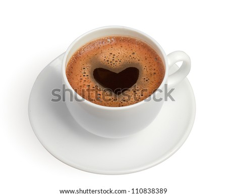 white coffee cup with heart