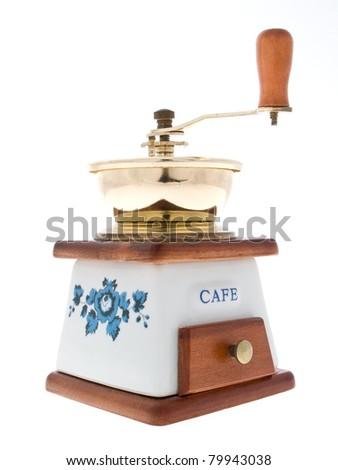white coffee grinder - stock photo
