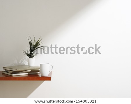 white coffee mug - stock photo