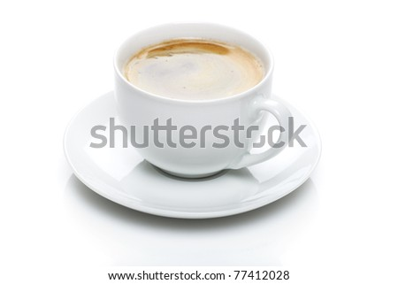 white coffee mug - stock photo