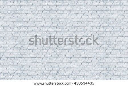White color painted brick wall texture. Background  for text or image. - stock photo