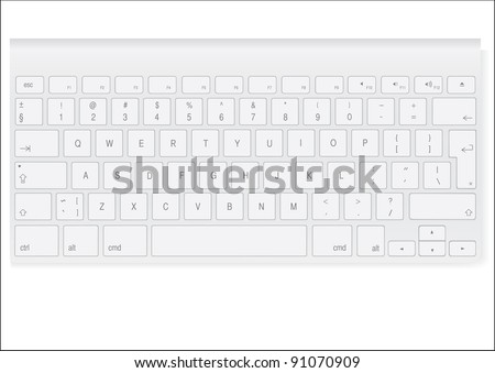 white colored keyboard - stock photo