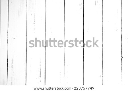 White colored old vintage wood with vertical boards. Grunge wooden background. Shabby chic France Provence style - stock photo