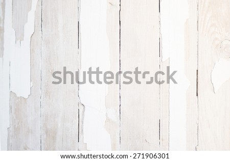 White colored old vintage wood with vertical boards. Grunge wooden background. Shabby chic style - stock photo