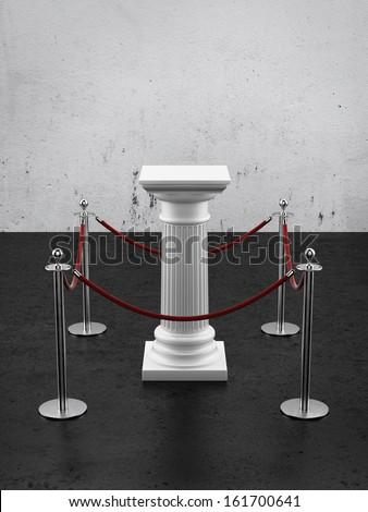 White column as pedestal - stock photo