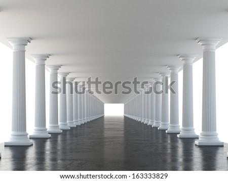 white columns - stock photo