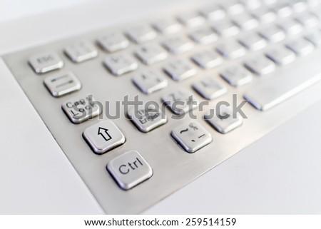 white computer keyboard - stock photo