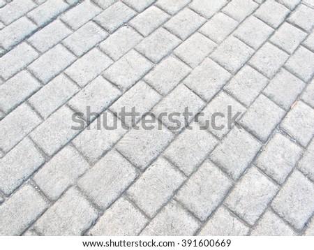 White concrete floor striped square for background - stock photo