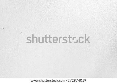 White concrete wall textures background - stock photo