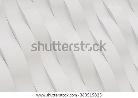 White Concrete Wall Wave Pattern Background