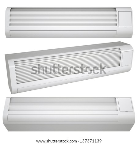 White conditioner. Isolated render on a white background