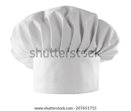 white cook hat on white  - stock photo