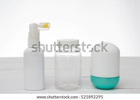 White Cosmetic containers isolated on gray. set of cosmetic products on a white background. Package collection for cream, soups, foams, shampoo. Object, shadow, and reflection on separate layers.
