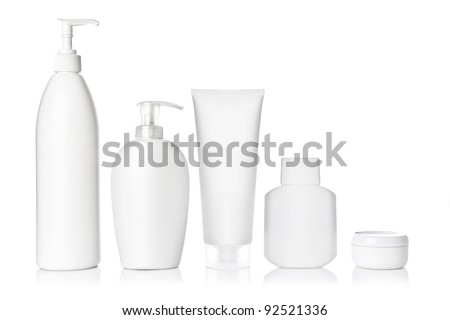 White Cosmetic set - stock photo