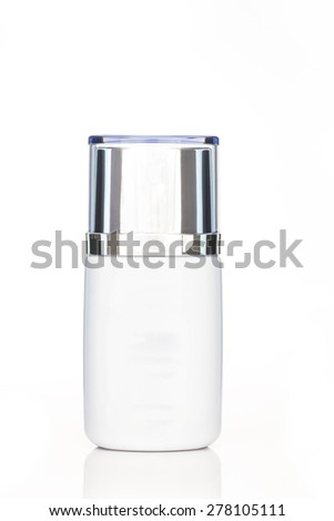 White cosmetic tube isolated on white background, clipping path included - stock photo