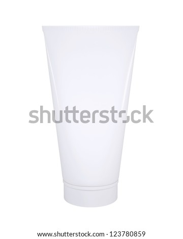 White cosmetic tube. Isolated render on a white background