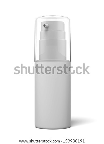 White cosmetics container - stock photo