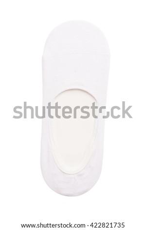 White cotton socks - stock photo