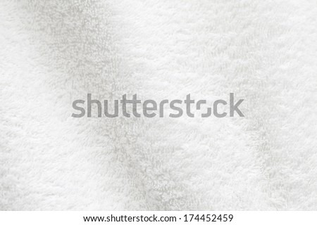 White cotton towel close up background photo texture - stock photo