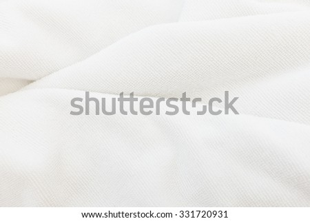 White cotton towel close up background texture