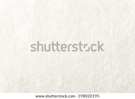 White cotton towel texture - stock photo