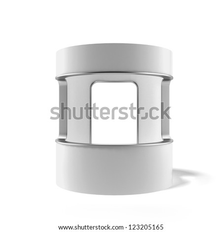 White counter isolated on a white background - stock photo