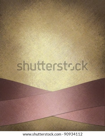 white cream background with elegant pink crossed ribbon stripe layout design on border of frame with vintage grunge texture and copy space for ad or text for valentine's day cover or card - stock photo