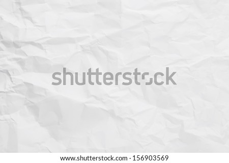 White creased paper background texture - stock photo
