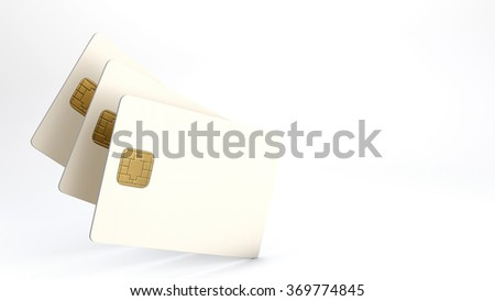 White credit card on white background - stock photo